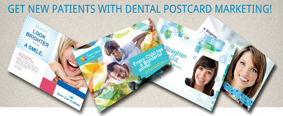 Dental Postcards Marketing, Get new Patients with dentist postcards